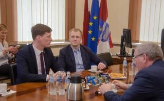 28. februārī Daugavpilī ieradies Latvijas ekonomikas ministrs Ralfs Nemiro
