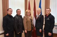 Žanna Kulakova congratulated the students of Daugavpils Construction school for the achievements in International competition
