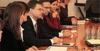 Žanna Kulakova with the other biggest Latvia's cities' mayors had a meeting with Prime Minister V.Dombrovskis.