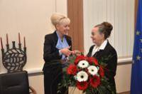 Daugavpils City Council congratulated Chevalier of Recognition Cross Maria Ivanova